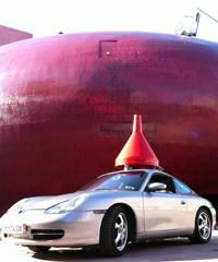 Porsche entonnoir