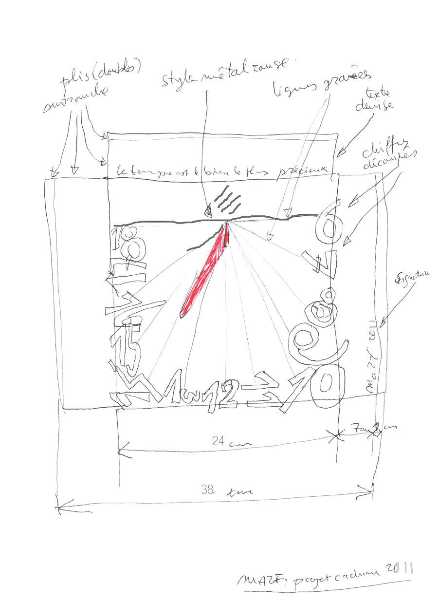 Maquette cadran vertical
