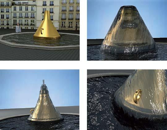 La fontaine entonnoir cadran-solaire