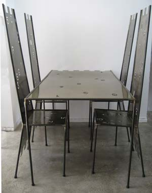 Mobilier chiffre chaises + table